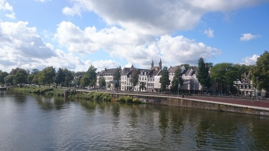 view over the canal in Maastricht