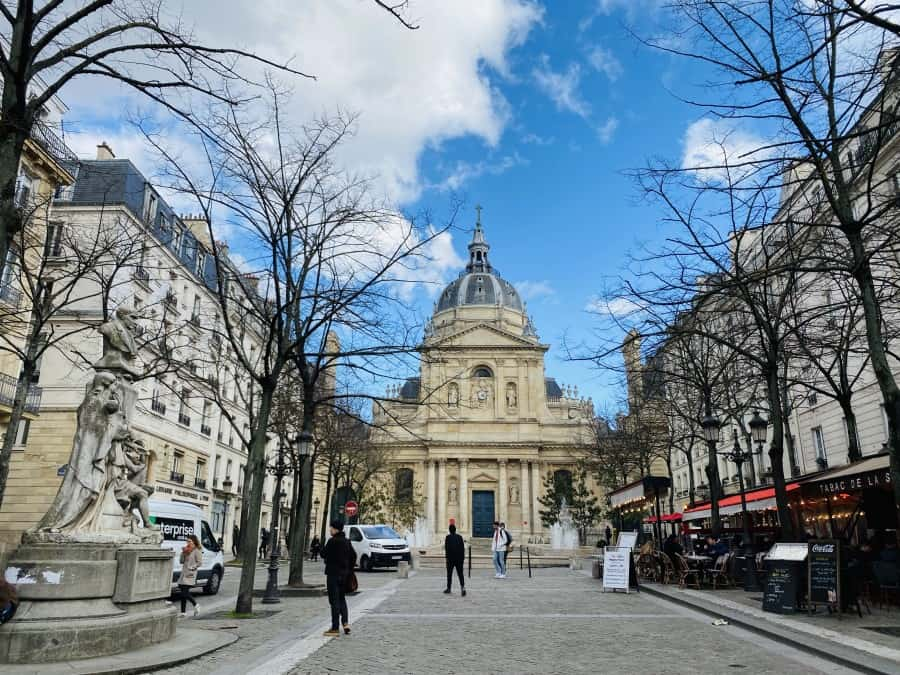 charming street in Paris, France which you can visit from Brussels, Belgium