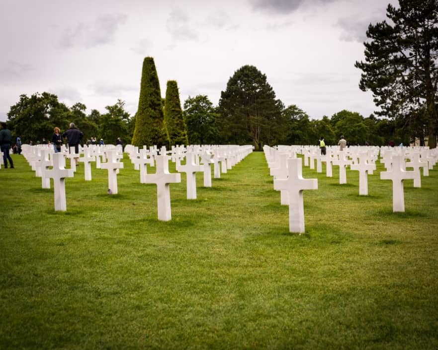 view of a Normandy cemetary
